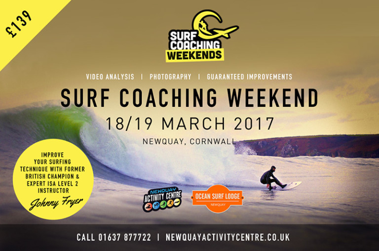 Johnny Fryer to hold Surf Coaching weekend